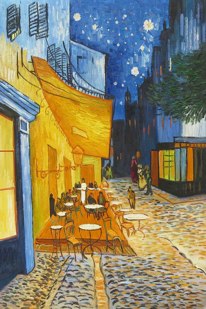 Vincent-van-Gogh--Terasse-des-Cafés-an-der-Place-du-Forum-in-Aries-am-Abend